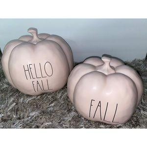 Rae Dunn Pink Fall Pumpkins